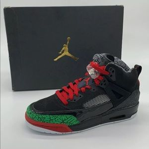 New Nike Air Jordan Spizike GS Black Red Green